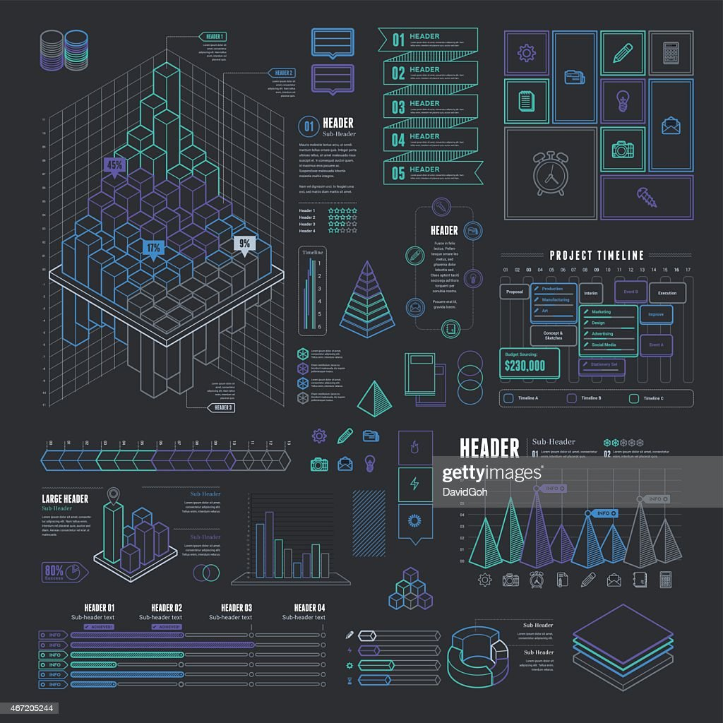 Info-graphic business model template : stock illustration