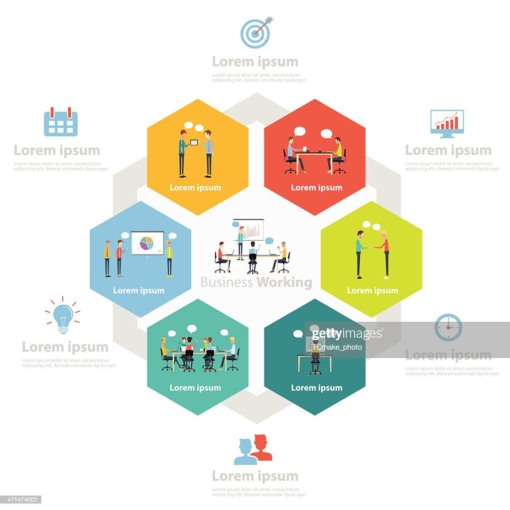 infographic business working process concept