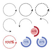 Infographic circle arrows.