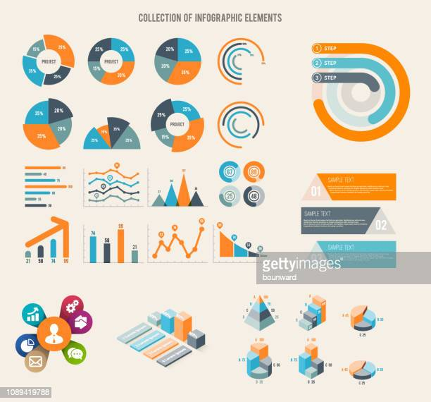 infographic collection background - percentage sign stock illustrations
