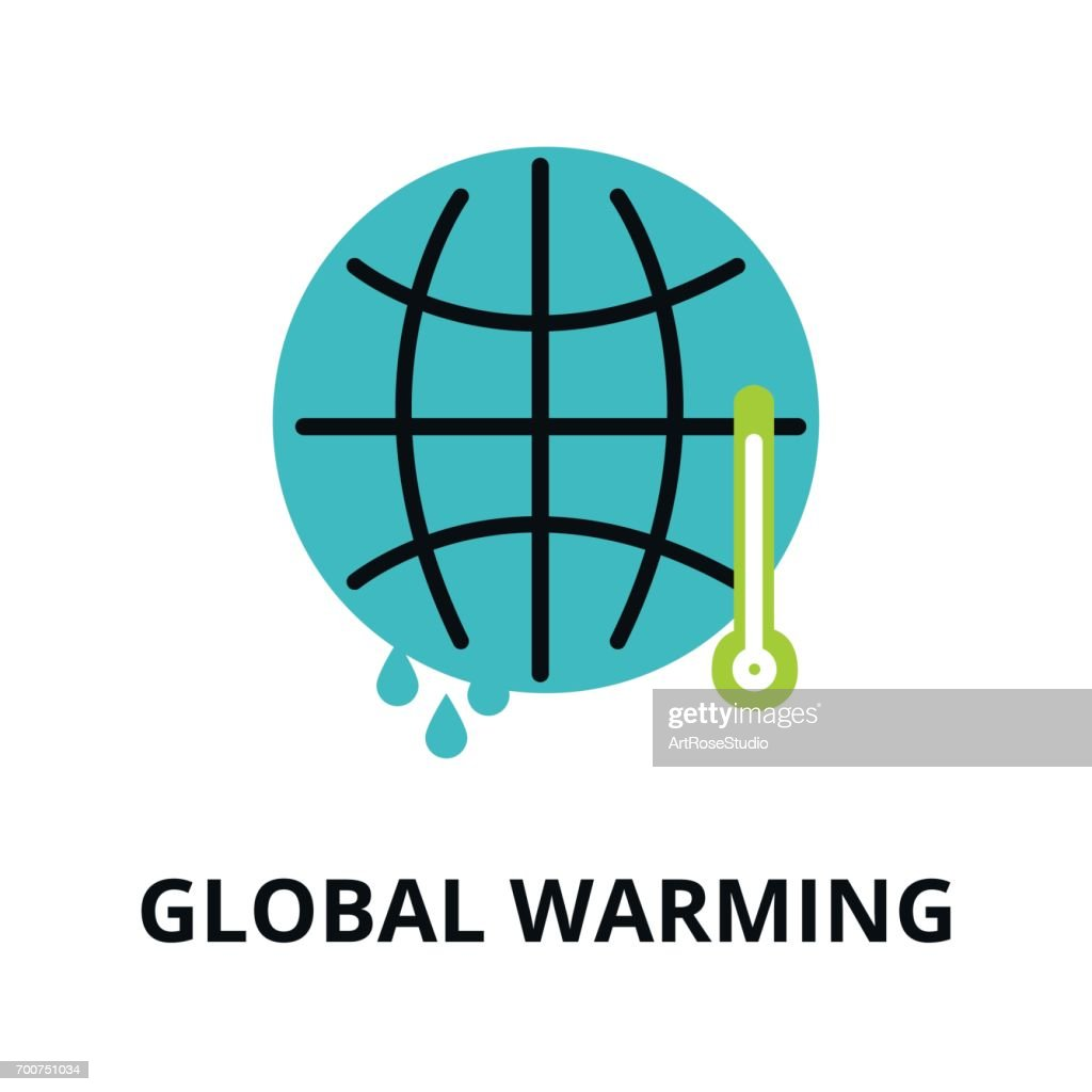 Infographic concept of ecology and global warming