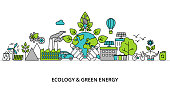 Infographic concept of ecology problem