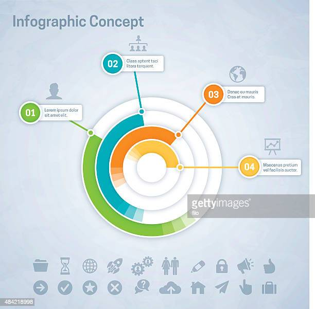 infographic concept - number 1 stock illustrations, clip art, cartoons, & icons