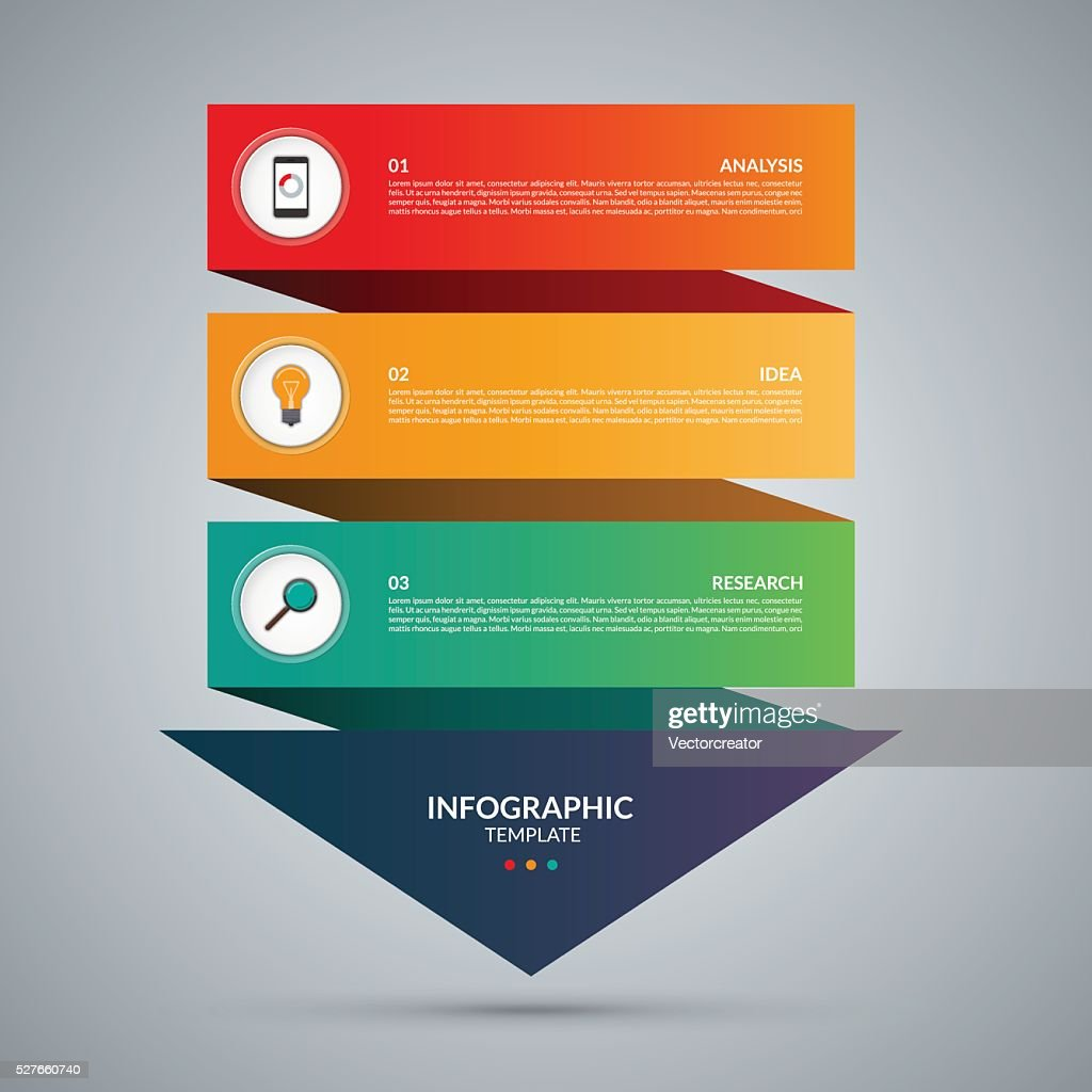 Infographic concept. Vector template with 3 steps
