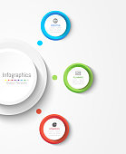 Infographic design elements for your business data with 3 options, parts, steps, timelines or processes. Circle round concept, Vector Illustration.
