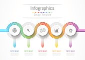 Infographic design elements for your business data with 5 options, parts, steps, timelines or processes. connection lines concept,  Vector Illustration.