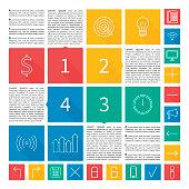 Infographic design. Flat user interface.