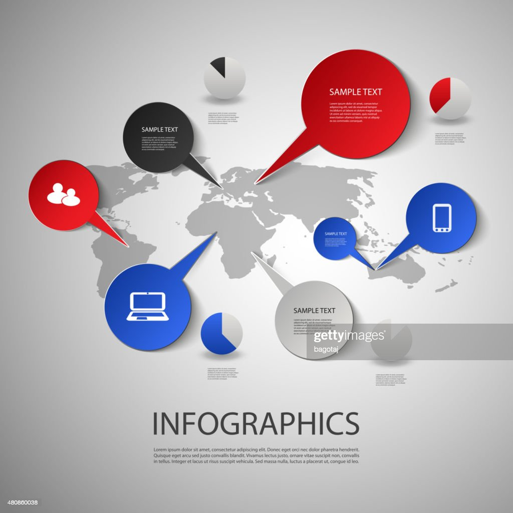 Infographic Design - Map and Icons