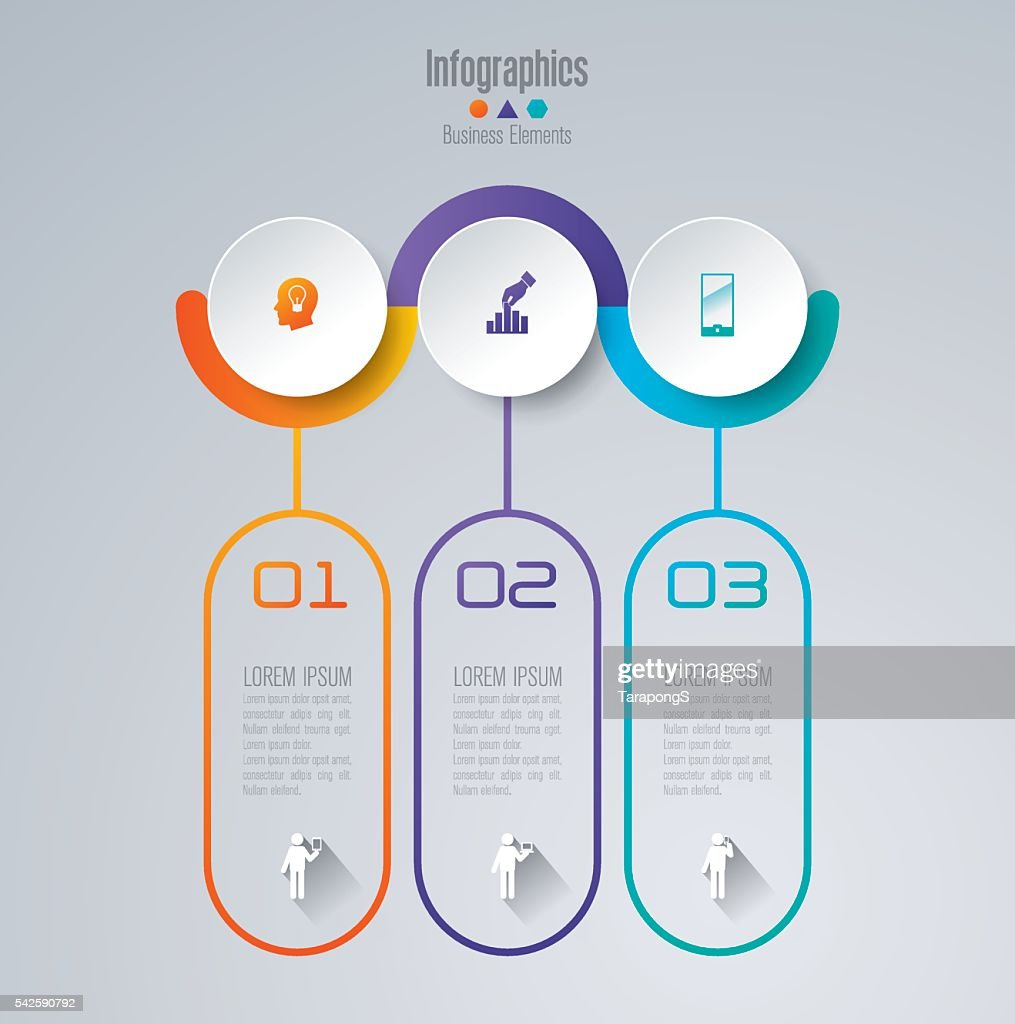 Infographic design template and business icons.