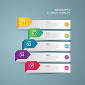 Infographic design template Business concept with 5 options