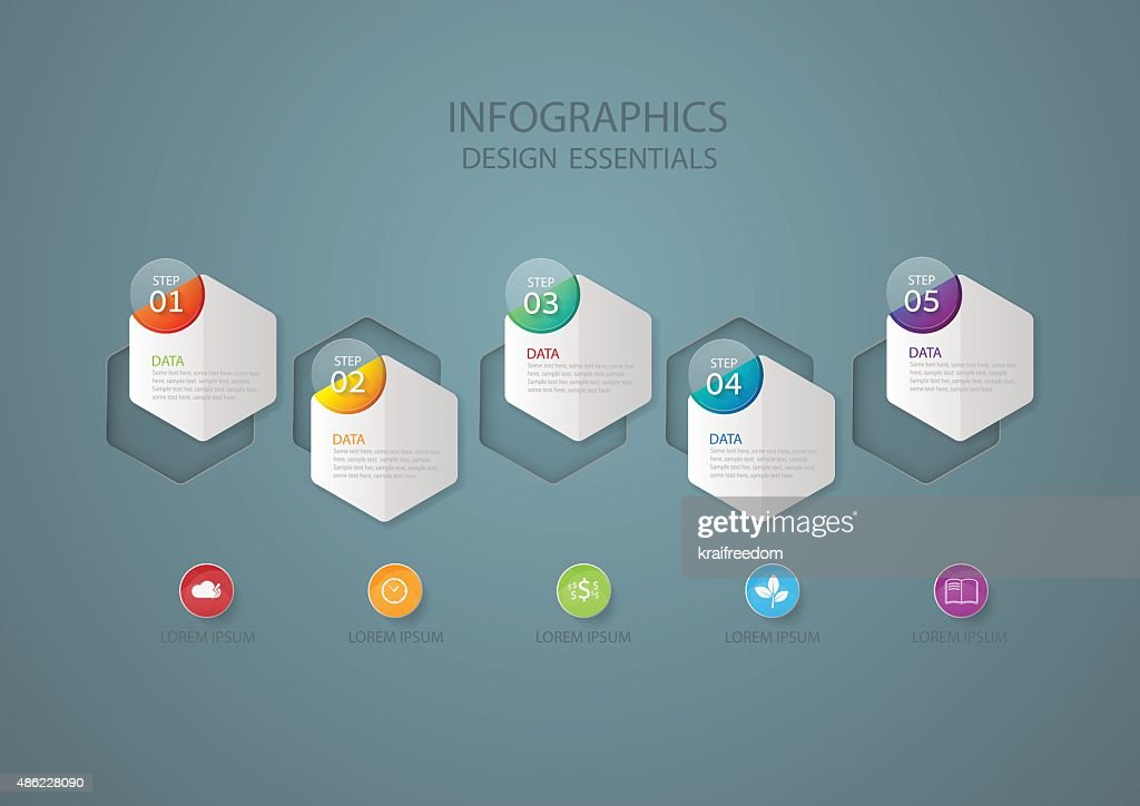 Infographic design template, Business concept with 5 options