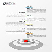 Infographic design template. Timeline concept with target