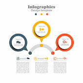 Infographic design template with place for your data. Vector.