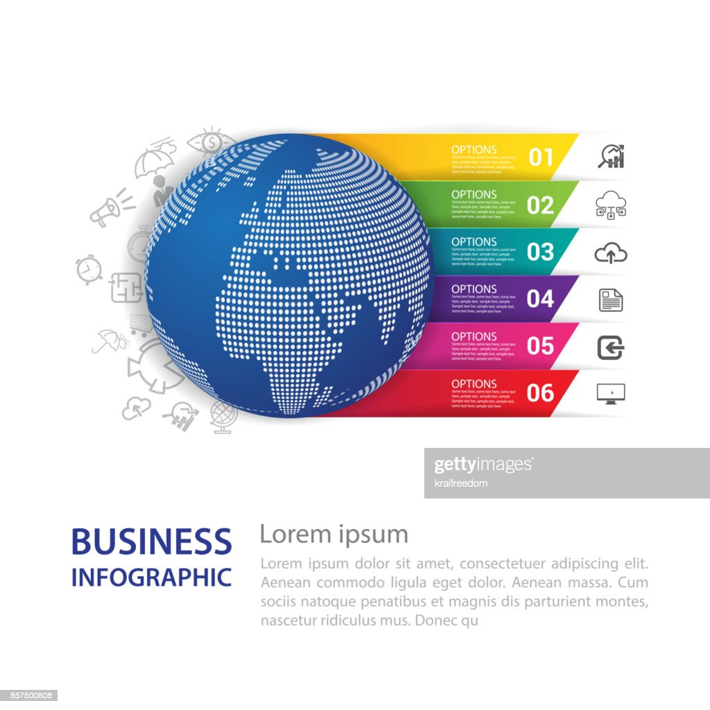 Infographic design vector and modern world map vector art getty images infographic design vector and modern world map vector art gumiabroncs Images
