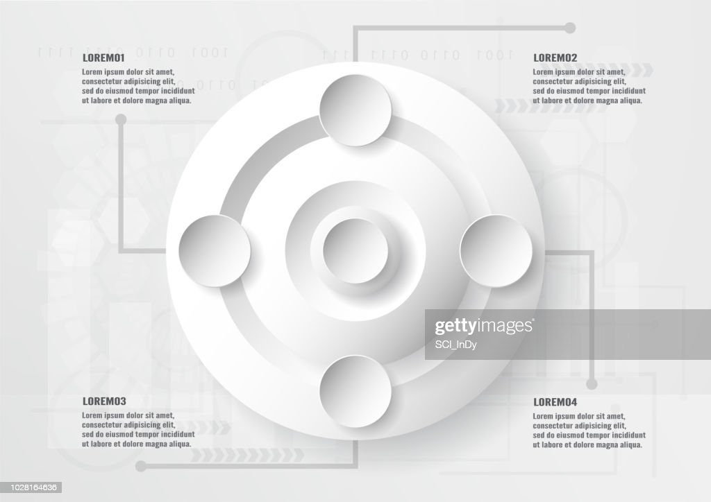 Infographic element design on technology background with copy scape for graphic, cover, business presentation, template, data information amd timeline.
