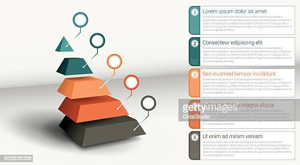 infographic element - segmented pyramid - pyramid stock illustrations