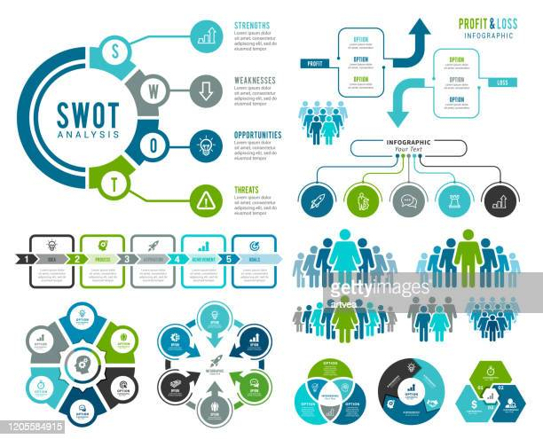 infographic element - flow chart stock illustrations