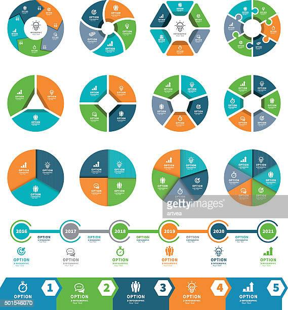 Infographic Elements and Timeline Set