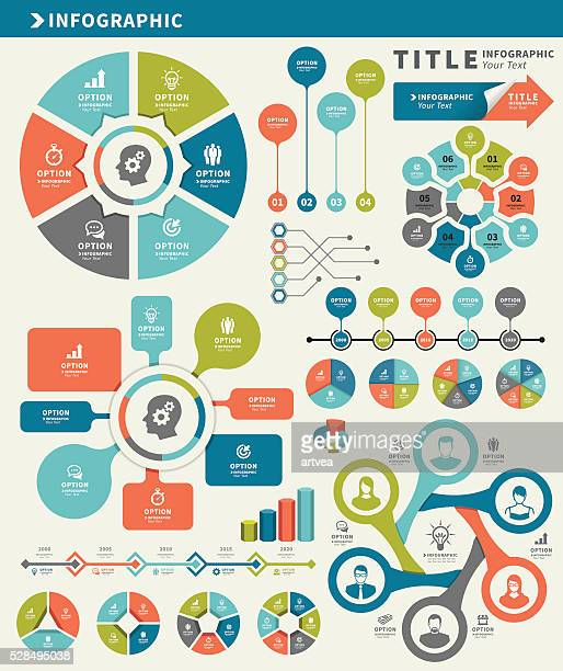 Elementos para infográficos e cronograma definido