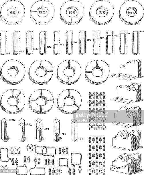 infografik-elemente zeichnen - frankramspott stock-grafiken, -clipart, -cartoons und -symbole