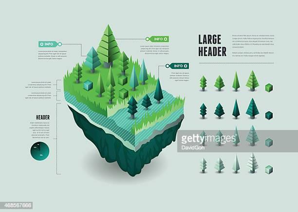 Infografik-Elemente-Floating Kontinent gewesen