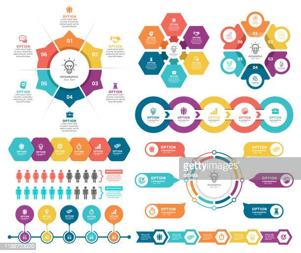 infographic elements - circle chart stock illustrations