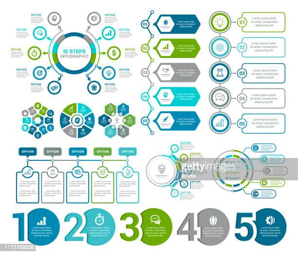 infographic elements - computer graphic stock illustrations