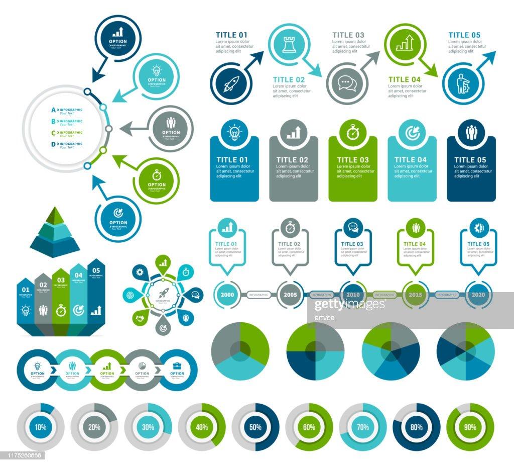 Elementos de Infographic : Ilustração