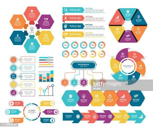 infografik elemente - sechseck stock-grafiken, -clipart, -cartoons und -symbole
