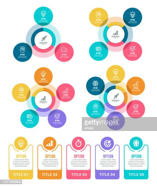 インフォグラフィック要素 - 数字の3点のイラスト素材/クリップアート素材/マンガ素材/アイコン素材