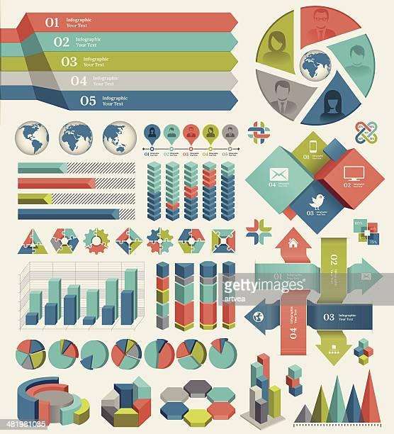 illustrazioni stock, clip art, cartoni animati e icone di tendenza di elementi infografici - diagramma a colonne
