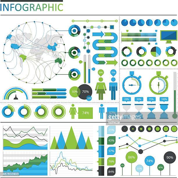 infographic elements - percentage sign stock illustrations