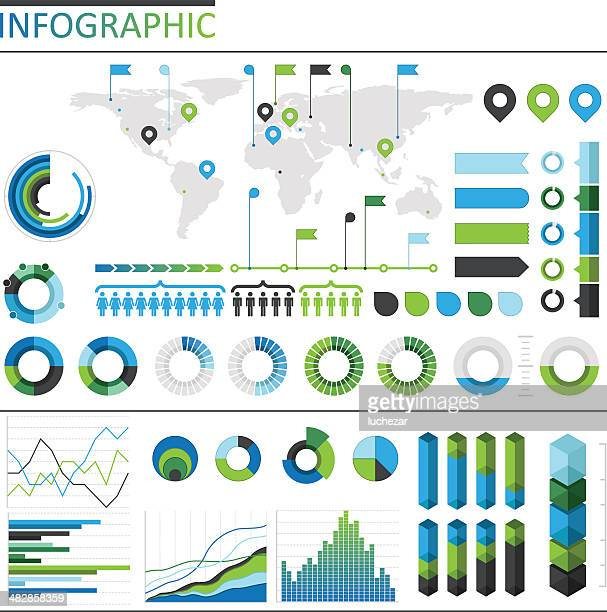 infographic elements - line graph stock illustrations