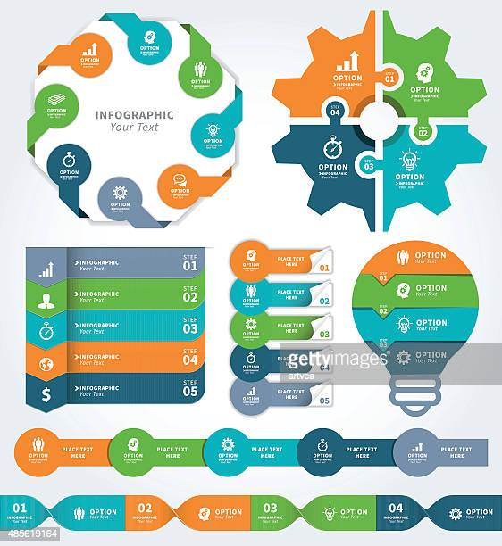 infographic elements - labeling stock illustrations, clip art, cartoons, & icons