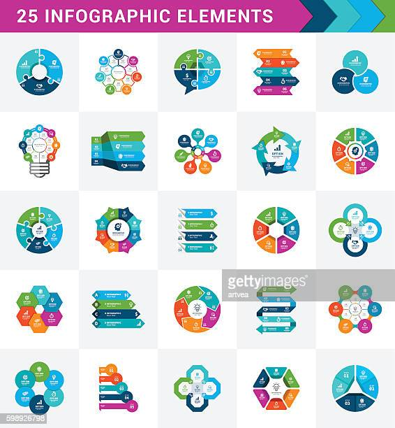 infographic elements - flowing stock illustrations, clip art, cartoons, & icons