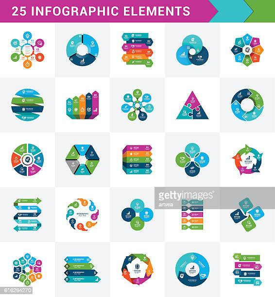 infographic elements - diagram stock illustrations, clip art, cartoons, & icons