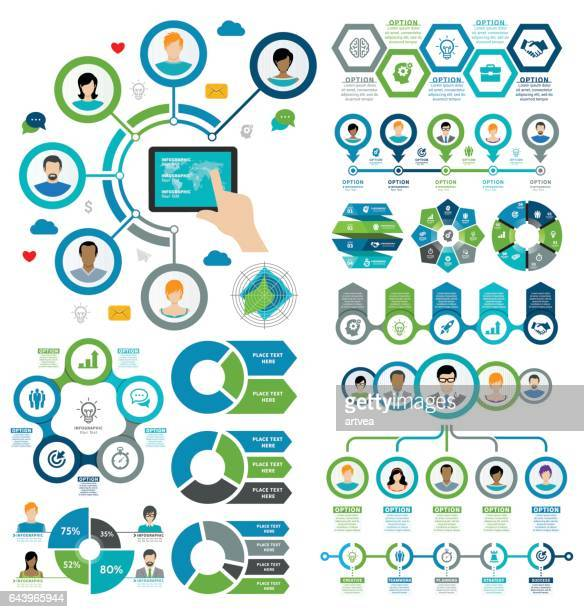 infographic elements - interactivity stock illustrations, clip art, cartoons, & icons