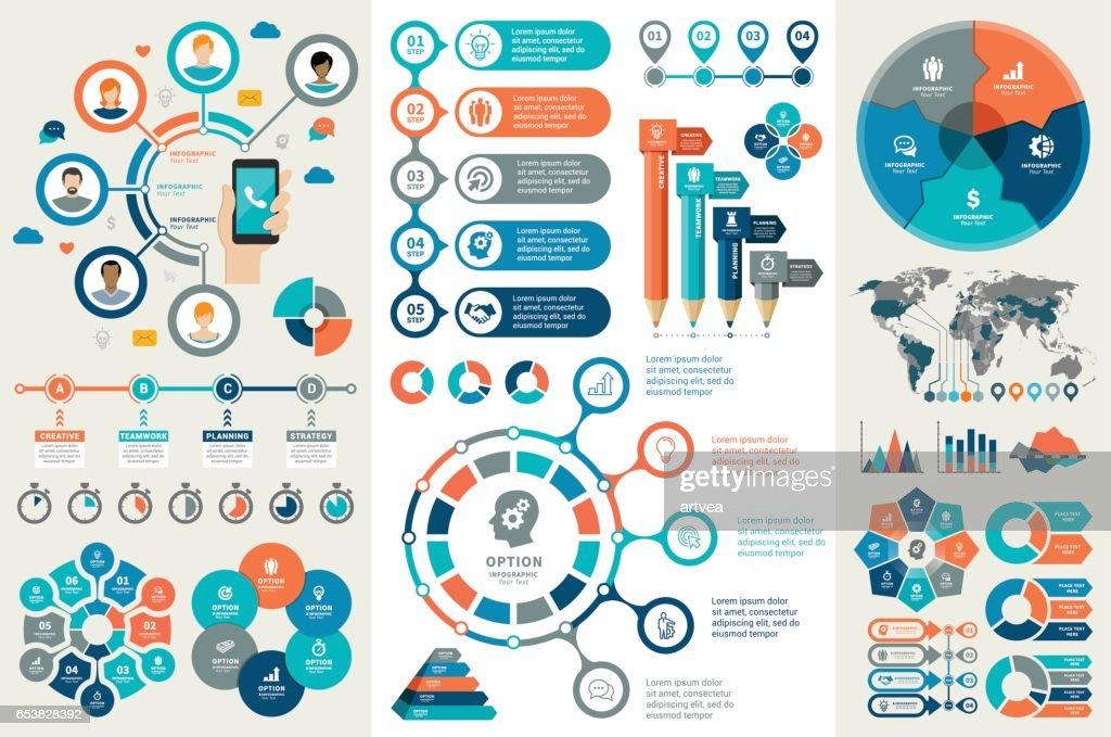 Elementos de infografía : Ilustración de stock