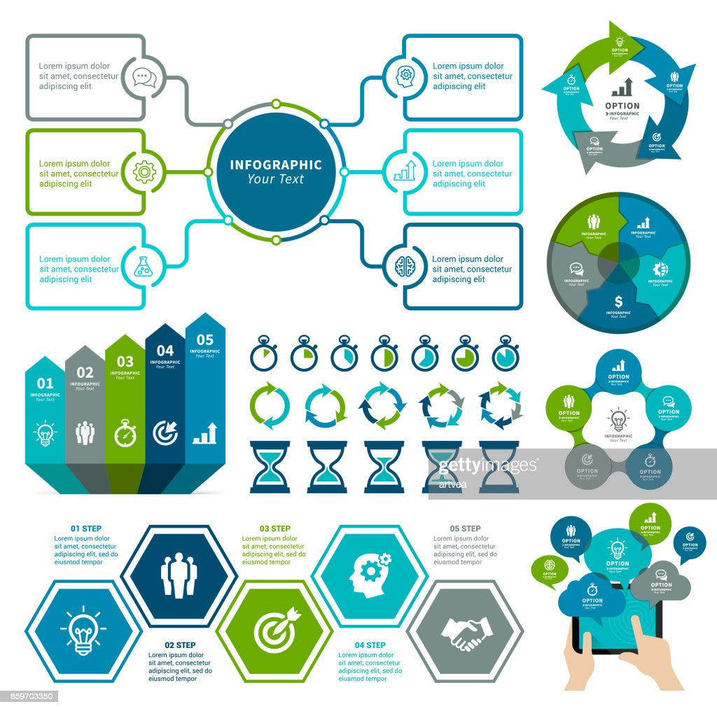 Infografía elementos  : Ilustración de stock