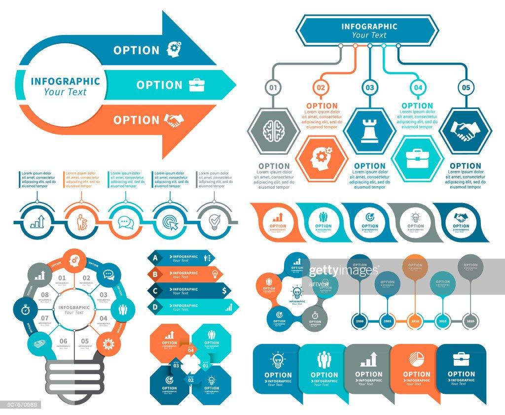 Elementos para infográficos  : Ilustração