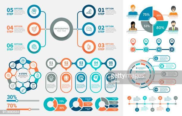 illustrations, cliparts, dessins animés et icônes de éléments infographiques  - infographie