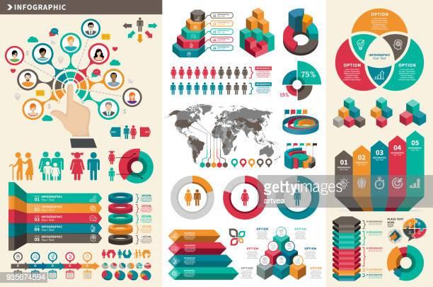 infographic elements - population explosion stock illustrations