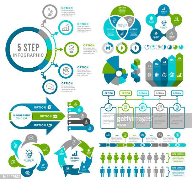 infographic elements - business strategy stock illustrations