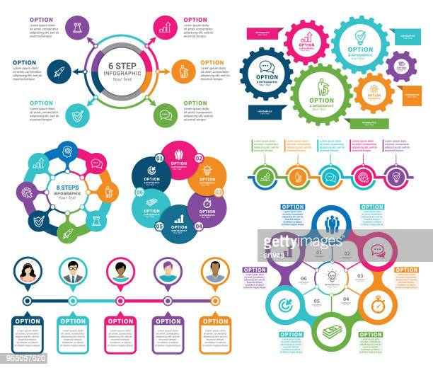 infographic elements - flow chart stock illustrations
