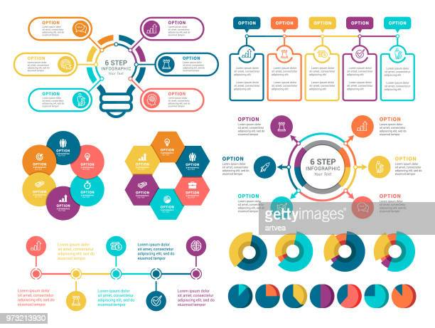 infographic elements - circle arrow chart stock illustrations