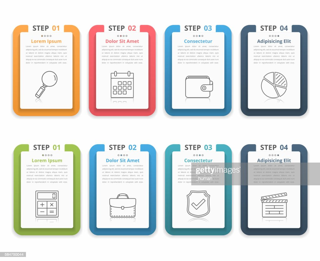 Infographic Elements with Numbers and Text