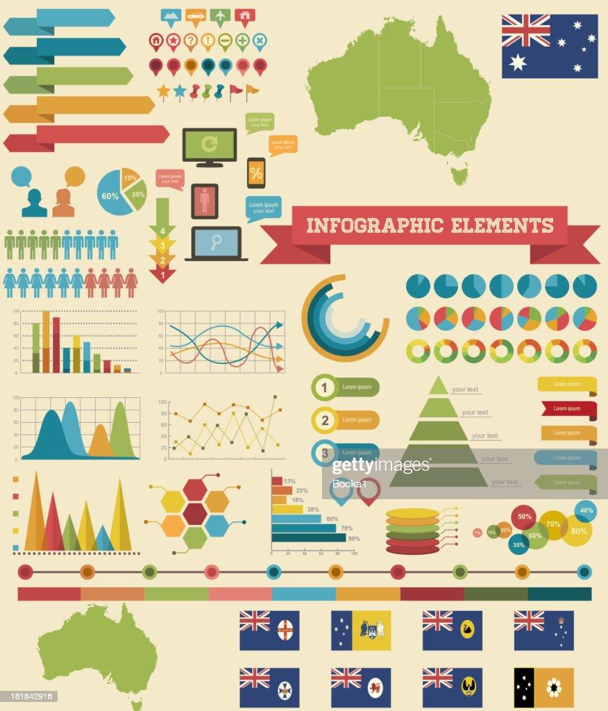 Infographic Elements-Australia