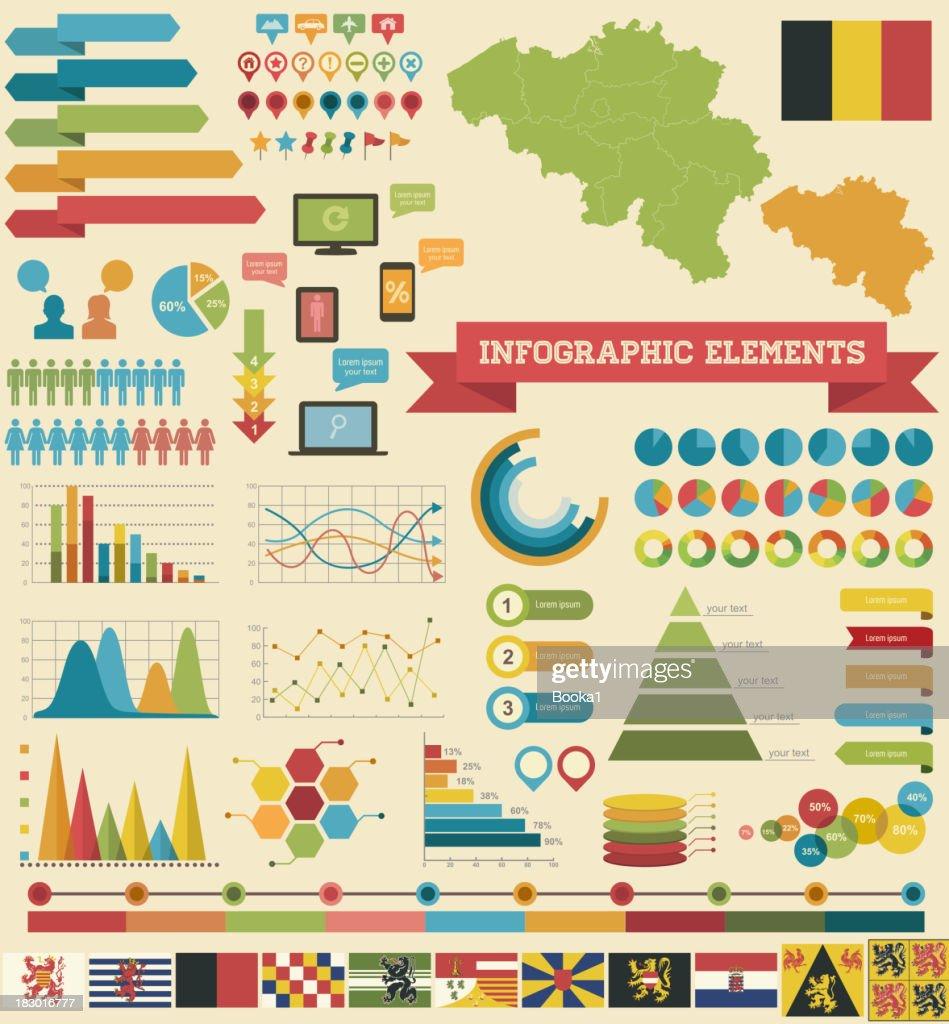 Infographic Elements-Belgium