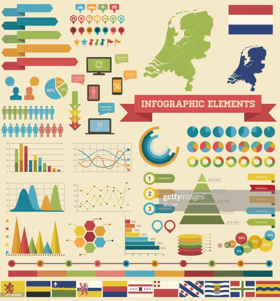 Infographic Elements-Netherlands