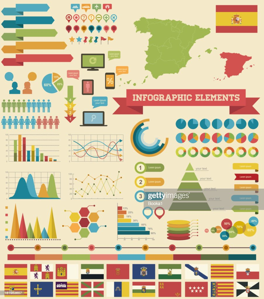 Infographic Elements-Spain